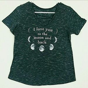 "Tops - ""I love you to the moon and back"" tee"